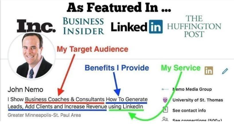 LinkedIn headline and summary